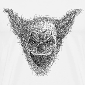 Clown Scribble - Männer Premium T-Shirt