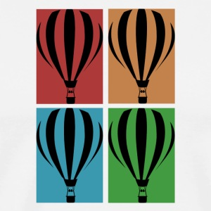Hot air balloon collage - Men's Premium T-Shirt