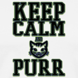 colored cats designs Keep calm and PURR - Men's Premium T-Shirt