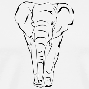 Elephant - outline - Men's Premium T-Shirt