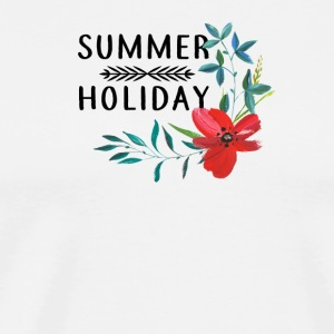 SUMMER HOLIDAY FLOWER MALLORCA Maldivene - Premium T-skjorte for menn