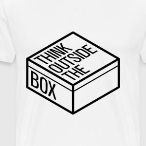 Think outside the box - Koszulka męska Premium