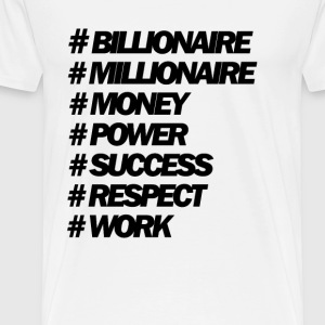 Hastags Money And Power People - Camiseta premium hombre