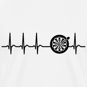 Heart Beat Darts Arrow Cool funny fun gift - Men's Premium T-Shirt