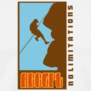 Rock Climbing Accept No Limitations - Men's Premium T-Shirt