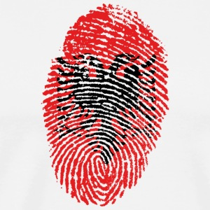 Fingerprint - Albania - Men's Premium T-Shirt