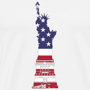 Lady Liberty USA - Mannen Premium T-shirt