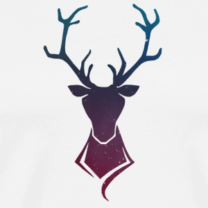 Deer logo Colorful stars - Men's Premium T-Shirt