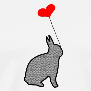 The rabbit in love - Men's Premium T-Shirt
