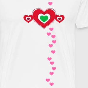 Hearts Valentine's Day in Love Love flirt happiness - Men's Premium T-Shirt