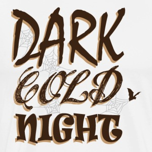 Halloween Mörk Cold Night pumpa panel - Premium-T-shirt herr