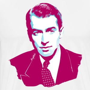 James Stewart ruby mint - Mannen Premium T-shirt