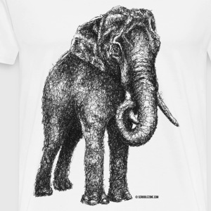 Scribbled Elephant - Men's Premium T-Shirt