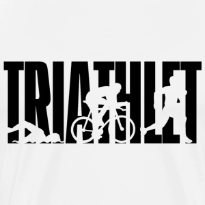 TRIATHLETE - triathlon - Piscina - bike - corsa - Maglietta Premium da uomo