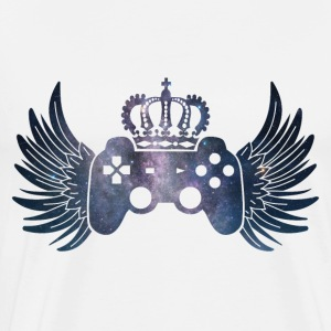 Controller Symbol Controller with wings and crown - Men's Premium T-Shirt