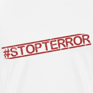 STOPTERROR red - Men's Premium T-Shirt