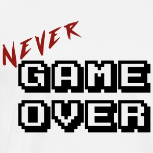 Nooit game over transparante - Mannen Premium T-shirt