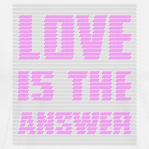 LOVE IS THE ANSWER - Maglietta Premium da uomo