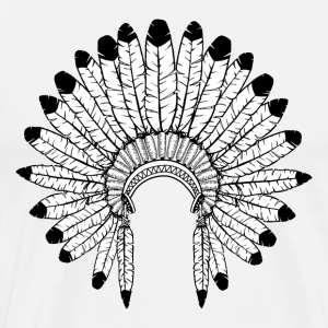Warbonnet - Indian headdress - Men's Premium T-Shirt