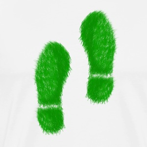 Green Grass Steps - Herre premium T-shirt