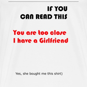 Girlfriend shirt - Men's Premium T-Shirt