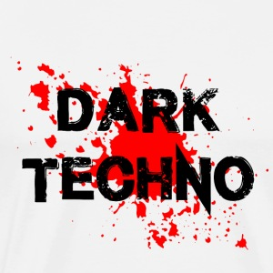 Dark Techno with blood spatter - Men's Premium T-Shirt