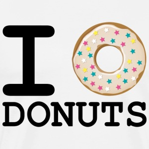I_love_Donuts - Premium T-skjorte for menn