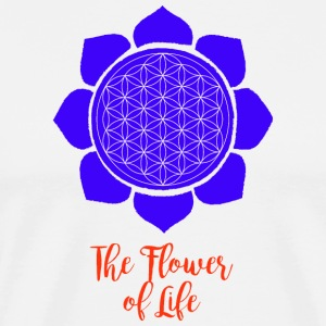 Flower of Life - Premium T-skjorte for menn