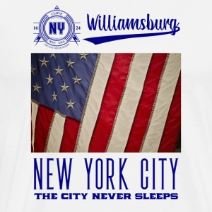 New York · Williamsburg - Premium T-skjorte for menn