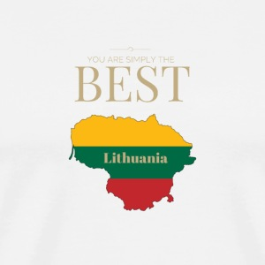 Lithuania is simply the best - Männer Premium T-Shirt