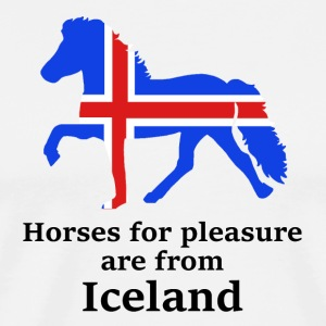 horses_for_pleasure_are_from_Iceland - Herre premium T-shirt