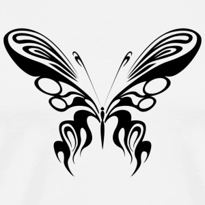 Tribal tatovering Butterfly / Butterfly / Butterfly - Herre premium T-shirt