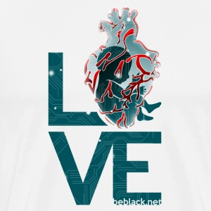 Techeart_LOVE - T-shirt Premium Homme