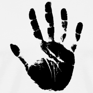 Hand handprint fingerprint Stencil - Men's Premium T-Shirt