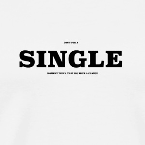SINGLE2 - Herre premium T-shirt