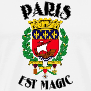 Paris Is Magic-White - Miesten premium t-paita