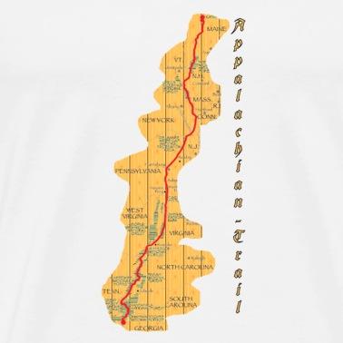 appalachian-trail-map Männer Premium T-Shirt | Spreadshirt