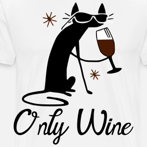 Cat only drinks wine