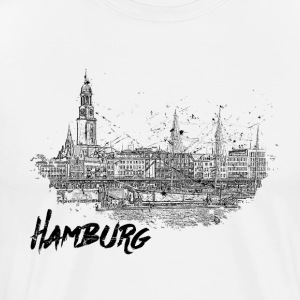 Hamburg city sketch