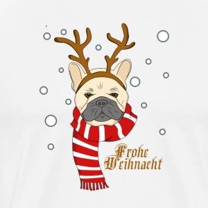 Christmas dog bully as a reindeer