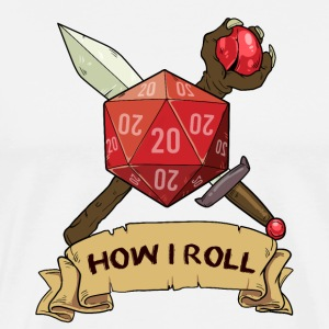 How I Roll D20 dungeon dragon dice gift