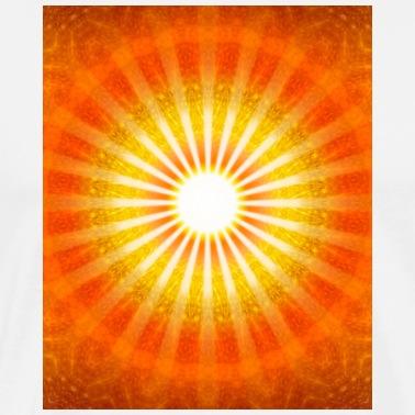 blomsten af liv mønster beskyttelse spiritualite Herre premium T shirt gråbrun