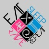 DJ Logo Design Eat Sleep Rave Repeat - Men's Premium T-Shirt