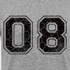 Number 08 in the grunge look - Men's Premium T-Shirt