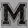 Letter M in the grunge look - Men's Premium T-Shirt