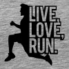 Saying sports man live love run - Men's Premium T-Shirt