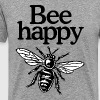 Bee Happy Beekeeper Quote Design (two-color) - Maglietta Premium da uomo