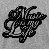 Cool Music is my Life Text Design - Men's Premium T-Shirt