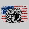 USA Flag - Indian Chief - Vintage Look - Männer Premium T-Shirt