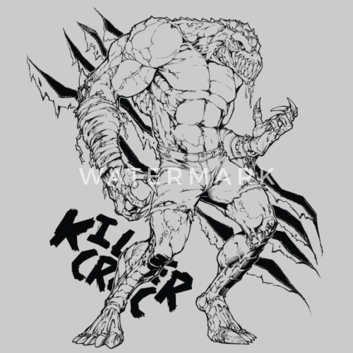 suicide squad killer croc line art von suicidesquad spreadshirt. Black Bedroom Furniture Sets. Home Design Ideas
